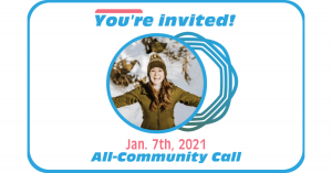 Read more about the article All-Community Call Jan. 7, 2021